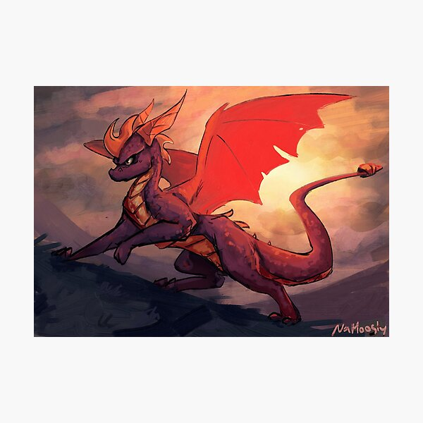 Spyro The Purple Dragon Photographic Print