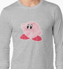 Watercolour Kirby! Long Sleeve T-Shirt