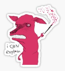 Bad Explanation Art Dog Sticker