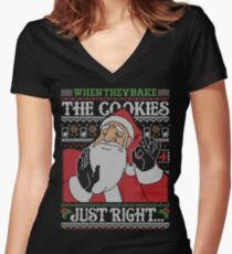 When They Bake The Cookies Just Right... Women's Fitted V-Neck T-Shirt