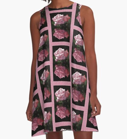 Passionately Pink Rose Duo A-Line Dress