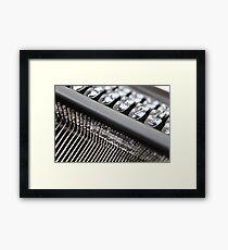 Typewriter .. Framed Print