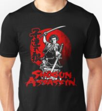 LONEWOLF AND CUB AKA SHOGUN ASSASSIN SHINTARO KATSU JAPANESE RETRO SAMURAI MOVIE  T-Shirt