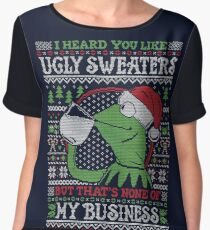I Heard You Like Ugly Sweaters Women's Chiffon Top