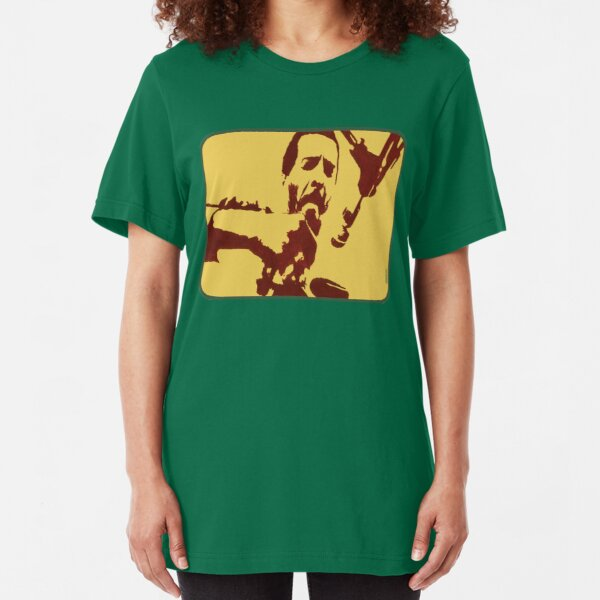 Richie Havens at Woodstock (drawing) Slim Fit T-Shirt