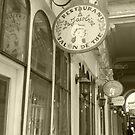 Paris arcade by Caroline Clarkson
