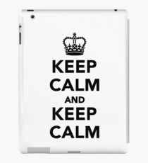 Keep calm and keep calm iPad Case/Skin
