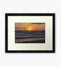 Beautiful Gulf Sunset Framed Print