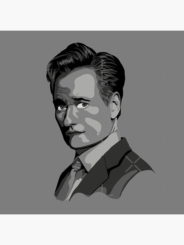 Conan O'Brien Portrait - Gray by unhingedheather