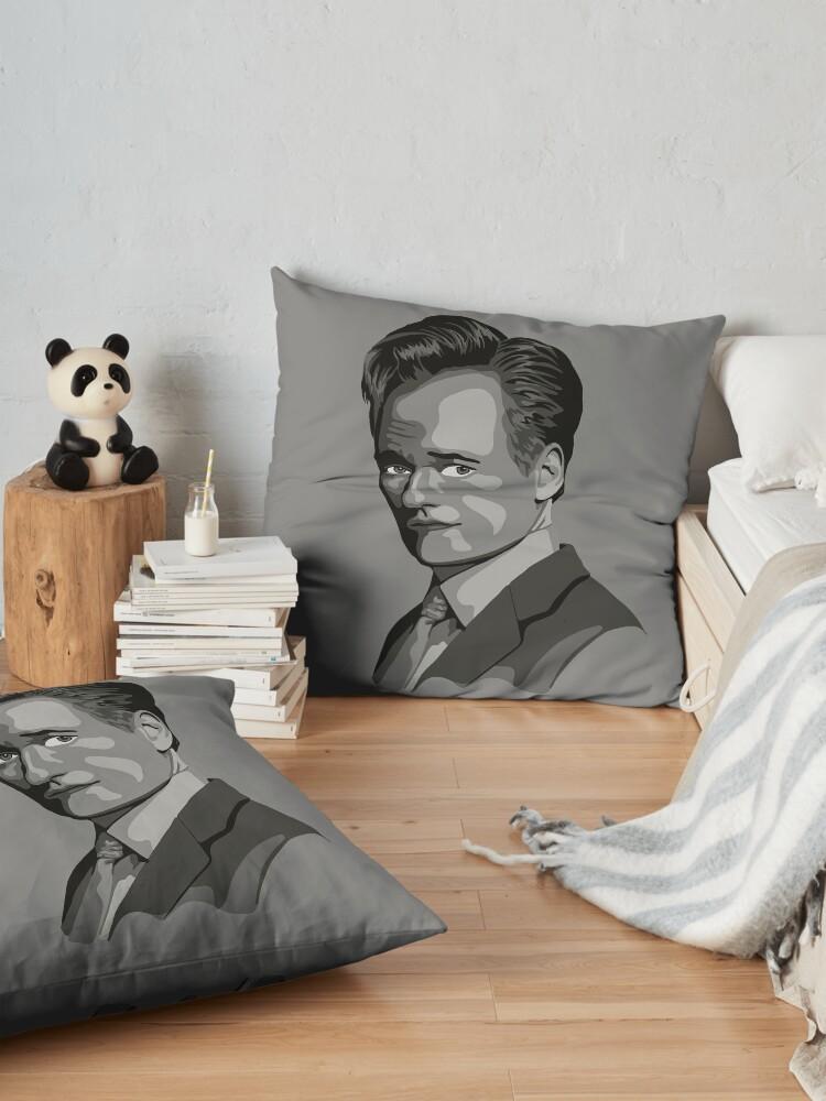 Alternate view of Conan O'Brien Portrait - Gray Floor Pillow