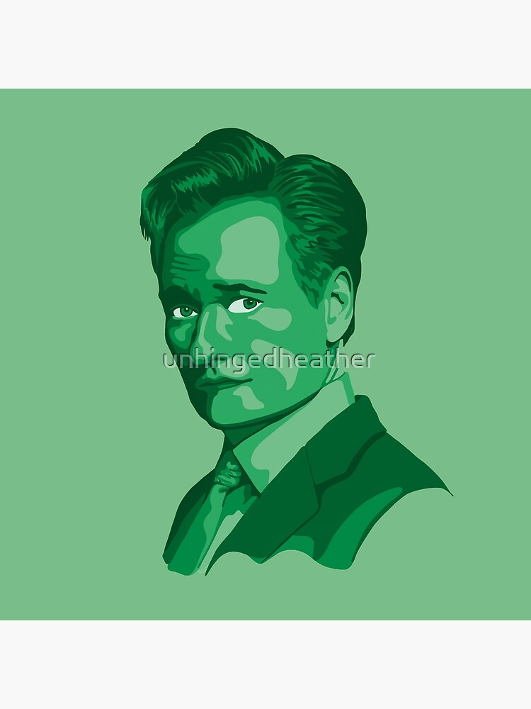 Conan O'Brien Portrait - Green by unhingedheather