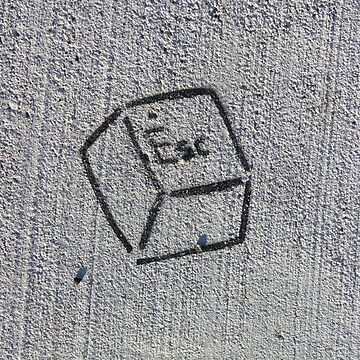 Escape Key (stencil graffiti) by alexiares