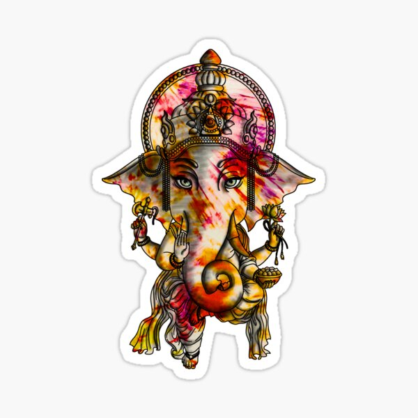 Ganesh Ji Hindu God Sticker Photo
