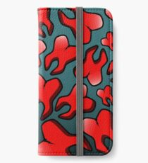 Raining Red Tooth iPhone Wallet