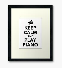 Keep calm and play piano Framed Print