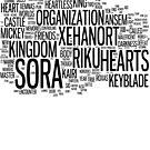 Kingdom Hearts Word Cloud by Ryan Bamsey