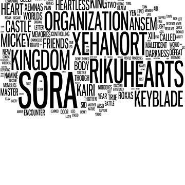 Kingdom Hearts Word Cloud by bamseyboy