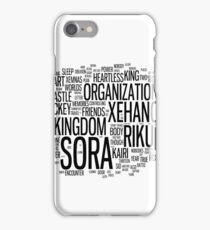 Kingdom Hearts Word Cloud iPhone Case/Skin