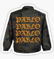 Kanye West Pablo Camo Jacket Sticker