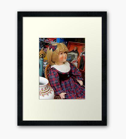 A friendly girl Framed Print