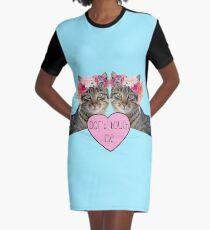 Cats Graphic T-Shirt Dress