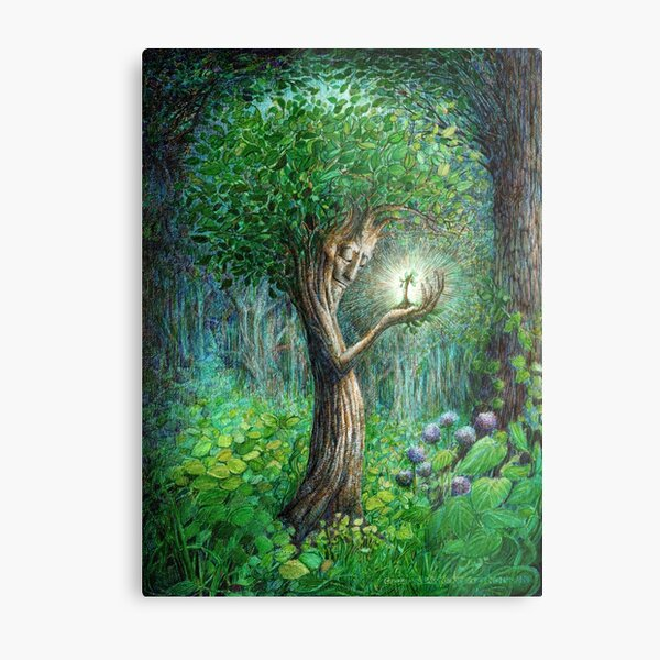 The Ent and the Seedling Prints Metal Print