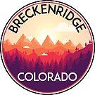 BRECKENRIDGE COLORADO Ski Skiing Mountain Mountains Skiing Skis Silhouette Snowboard Snowboarding  by MyHandmadeSigns