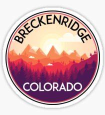 BRECKENRIDGE COLORADO Ski Skiing Mountain Mountains Skiing Skis Silhouette Snowboard Snowboarding  Sticker