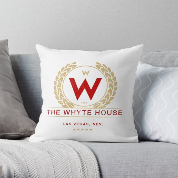 The Whyte House (aged look) Throw Pillow