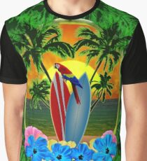 Tropical Sunset Palm Trees Graphic T-Shirt