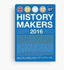 History Makers GB 2016 Canvas Print