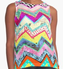 Rainbow Abstract Geometric Candy Land Contrast Tank