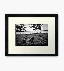 G. I. Joe at the Beach Framed Print