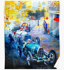 """MONACO GRAND PRIX"" Vintage (1929) Malerei Poster Poster"