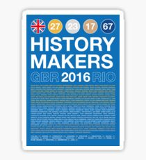 History Makers GB 2016 Sticker