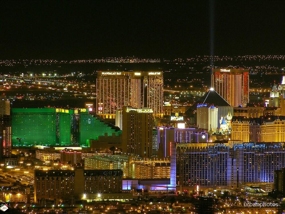 Aerial South Las Vegas Strip - March 2006 by urbanphotos