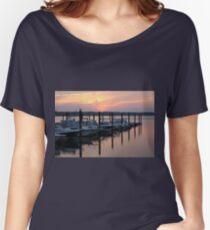 Belmar Marina Sunset Women's Relaxed Fit T-Shirt