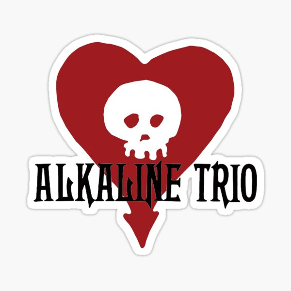 Alkaline 3-  Classic graphic. Awesome punk rock / alternative band. Black and red print. Sticker