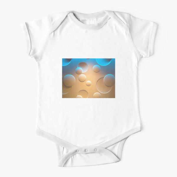 Cosmic Bubbles Short Sleeve Baby One-Piece