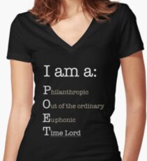 I am A POET.  Women's Fitted V-Neck T-Shirt