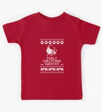 Pugly Christmas Sweater (White) Kids Clothes