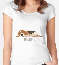 Beagles Tailliertes Rundhals-Shirt