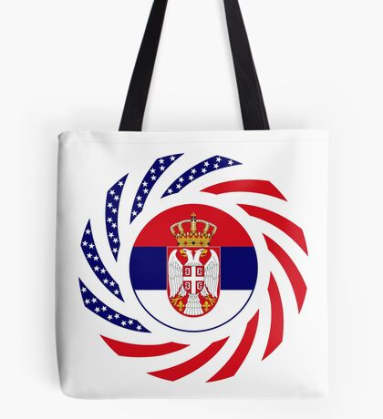 Serbian American Multinational Patriot Flag Series Tote Bag