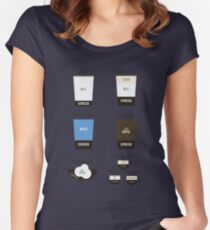 Espresso Drinks Diagram Women's Fitted Scoop T-Shirt