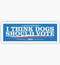 Dogs Should Vote 2016 Sticker Sticker