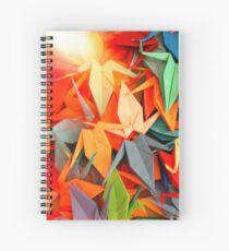 Senbazuru | Rainbow Spiral Notebook