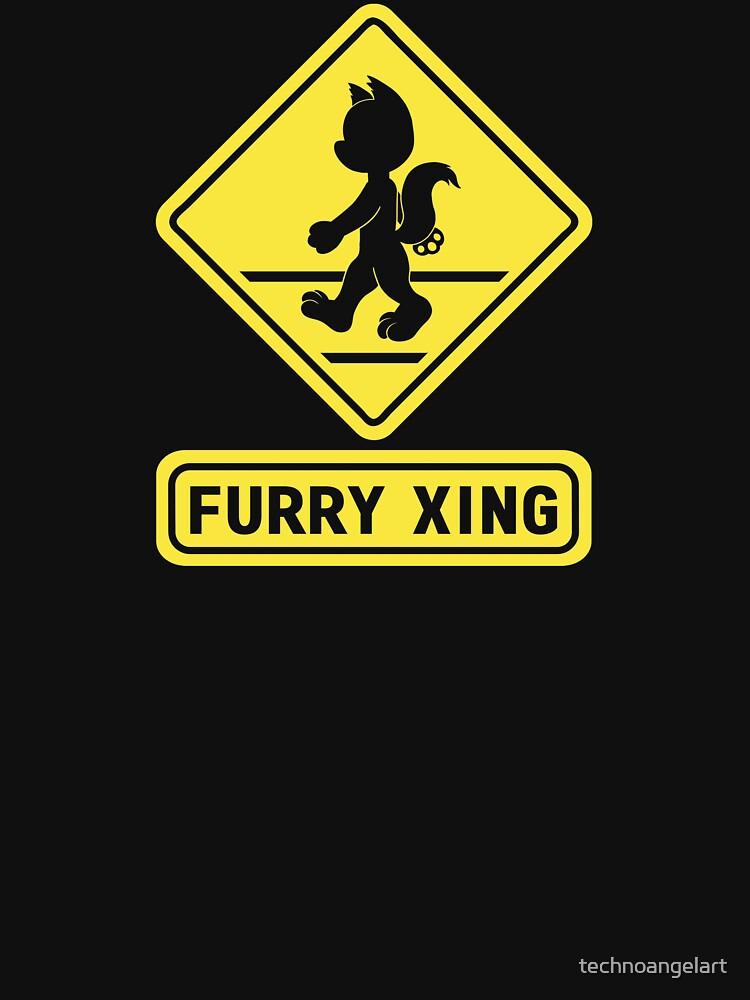 Furry X-ing by technoangelart