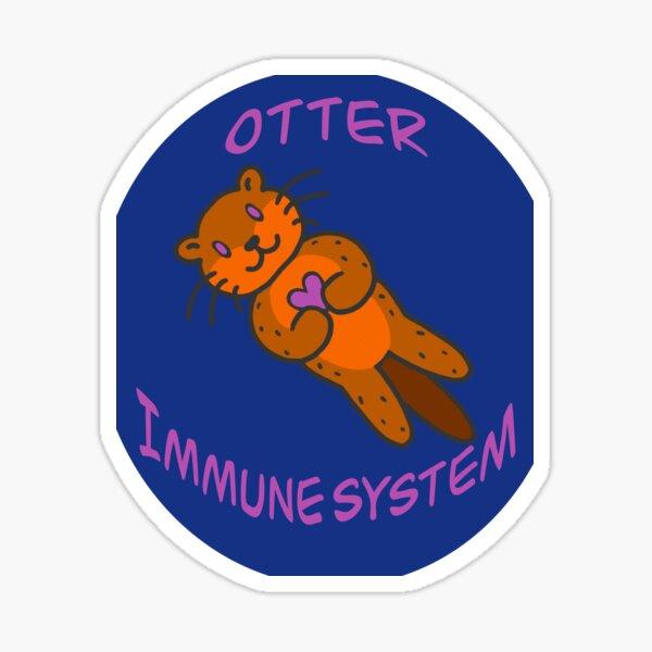 Love My Otter Autoimmune System Sticker