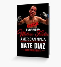 Nate Diaz Greeting Card
