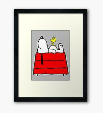 Snoopy chill out Framed Print